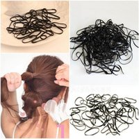 Vente en gros - Qualité supérieure 300pcs / set Cravates Braids Tresses Rubber Hairband Rope Ponytail Holder Elastic Hair 2016 Hot Sale