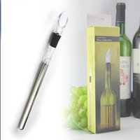 Wholesale Wine Coolers Bottle Pourer Cooling Chill Coolers Ice Cool Freezer Stick Rod and Pourer Stainless Steel Wine Tools Coolers Freezer DHL