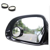 fahrzeugspiegel großhandel-2 stücke Universal Fahrer 2 Seite Weitwinkel Runde Konvexen Auto Fahrzeug Spiegel Totwinkel Auto RearView für Alle Auto