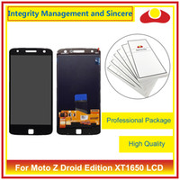 Wholesale Droid Lcd Screen - For Motorola MotoZ Droid XT1650 And Z Play Droid XT1635 Full Lcd Display With Touch Screen Panel Digitizer Sensor Assembly Complete
