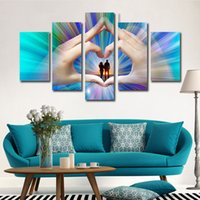 Wholesale Printed Curtain Panels - Painting Canvas Wholesale Prices 5 Curtain Wall Art Creative abstract portraits On The Canvas Painting Pictures No Framework