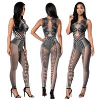 Wholesale Sexy Club Clothes Wholesale - 2017 New women clothes jumpsuit floral prints sexy Design Skinny night clubs dress for beauty free shipping