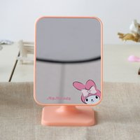 Wholesale The new high listing makeup mirror Center desktop cartoon and colorful toilet glass Portable large square