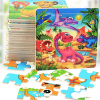 Wholesale Kid Toy Animal Jigsaw - DHL Educational Toys for Children Kids Baby Jigsaw Wooden Puzzle Building Blocks Educational Toys Gifts Wooden Animals Multi Color 15*15CM