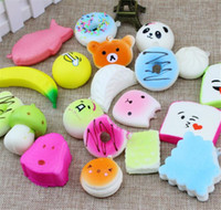 Wholesale Squeeze Breast - Wholesale Fruit Squishies Slow Rising silicone Soft Mini Breast Squishy Toy Relieve Stress Squeeze Hand Wrist Pinch Toy cellphone accessor