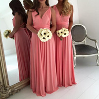 best open back satin wedding dress - Long Bridesmaid Dress Chiffon A-Line Deep V-Neck Open Back Bridesmaid Dresses Ruched Waist Backless Wedding Guest Dress