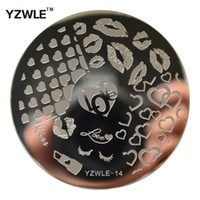 Wholesale polished stainless sheet - YZWLE Sheet Stamping Nail Art Image Plate cm Stainless Steel Template Polish Manicure Stencil Tools YZWLE