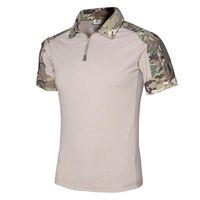 camiseta de manga curta do exército venda por atacado-Homem Multicam Camisetas Camuflagem Do Exército Combate Tático Camiseta Militar Homens T-Shirt de Manga Curta Caça T-shirt Transporte Rápido