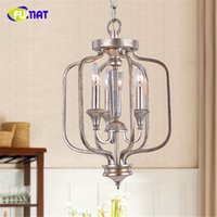 Wholesale Lampe E14 - FUMAT Loft Metal Chandeliers Retro Indoor Creative Suspension Lighting Living Room Art Decor Dining Room Hanging Lamp E14 Lampe