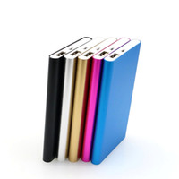 Wholesale external chargers for cell phone batteries resale online - 2017 Ultra thin slim Power Bank mAh Charger Powerbank External Battery Cell Phone Power Banks With Retail Package For Smart Phones