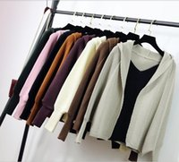Wholesale Hooded Knit Batwing Cardigan - 2017, the new south Korean version of the new south Korean tide will be in a loose autumn jacket, sweater and sweater