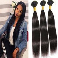 Wholesale Cheap Bulk Brazilian Hair - Cheap Brazilian Cheap Unprocessed human Hair Bulk Straight Hair 100gram lot, Natural Black, 10-30inch, Free Shipping