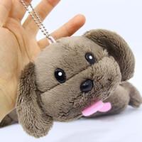 "Wholesale Poodle Plush Toy - Hot Sale 4"" 10CM Yuri On Ice Puppy Poodle Papa Dog Plush Doll Stuffed Keychain Pendant Toy For Child Gifts"