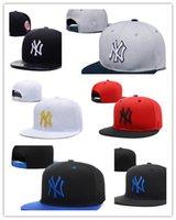 Wholesale New Colorful Snapbacks - Newest Colorful Yankees Hip Hop MLB Snapback Baseball NY Hats MLB Unisex Sports New York Adjustable Bone Women casquette Men Casual headware