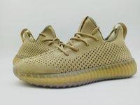 Wholesale Camping Earth - New Mesh V3 cream white,earth tan green,black v3 sneaker boost 350 V2 size 36-46 Kanye West Running sneakers