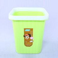 Wholesale Wholesale Mini Garbage Cans - Square Trash Can Kitchen Rubbish Bin Plastic Garbage Mini Waste Paper Basket Living Room Square Storage Barrel 5 Colors