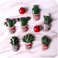Wholesale intelligent shapes online - Sunny Day Magnet Resin Arts And Crafts Pot Cacti Fridge Magnets Home Decor DIY Mobile Accessories Many Styles qh C R