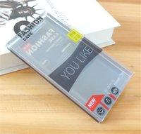 transparente innere großhandel-PVC Transparent Klarsichtfenster Kunststoff Kleinverpackung Box Universal Handyhülle Verpackungshülle mit Inneneinsatz