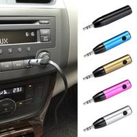 Wholesale Best Wireless Music Receiver - Best selling Wireless Portable Bluetooth Car Kit Mini Bluetooth 4.1 Music Receiver Adapter 3.5mm AUX Audio for Car Speaker Earphone