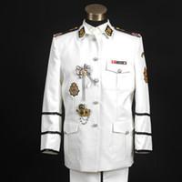chaqueta de rendimiento gratis al por mayor-Free ship mens marinero uniforme, chaqueta con pantalones / etapa de rendimiento