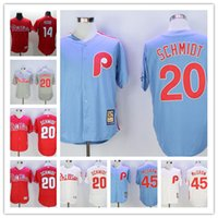 d9c50c32fb6 Throwback Jersey Baseball Men Short Cheap Mens Philadelphia Phillies 20  Mike Schmidt 45 ... Throwback Jersey Green Celtic Tug McGraw Authentic ...