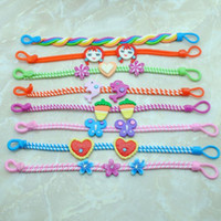 Wholesale Cute Kids Bracelets - Wholesale-Fashion jewelry cute children kids baby polymer clay bracelets For spring&summer cool lovely gift many design 0 CB11