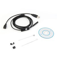 Lentille de 1.5M / 7mm Câble rigide Inspection d'USB Mini appareil-photo d'appareil-photo Serpent IP67 endoscope imperméable à l'eau avec l'endoscope de LED pour le téléphone d'androïde