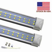 Wholesale High Lumens Leds - Stock In US + 72W 8ft led tubes 4ft t8 Integrated led light tubes dual rows 384 leds high lumens AC 85-265V UL FCC