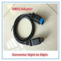 gm obd usb-kabel großhandel-Hohe Qualität OBDII OBD 2 16Pin OBD2 16 Pin Stecker auf Buchse Transfer Auto Diagnosekabel und Stecker