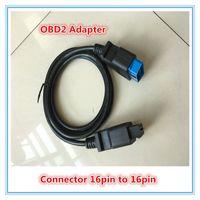 16pin obd2 kadın toptan satış-Yüksek Kaliteli OBDII OBD 2 16Pin OBD2 16 Pin Erkek Kadın Transfer Araba Teşhis Kablo ve Konnektör