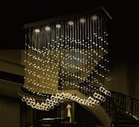 Wholesale Office Curtain - 2017 luxury LED 6 Light Crystal Wave Chandelier Modern Style Curtain Wave LED GU10 Bulb Lights Crystal ChandelierS Pendent Lamp 110v 220v