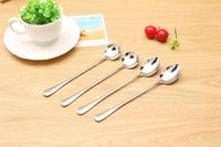Wholesale Order Mixed Kitchen - Free shipping Kitchen creative stainless steel long handle ice spoon office coffee mixing spoon DS003 mix order as your needs