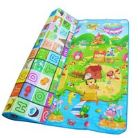 Baby Crawling Play Mat 2 * 1.8 Climb Pad Double-Side Fruit Letters E Happy Farm Baby Toys Playmat Tappeto per bambini Baby Game