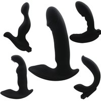 Wholesale G Spot Vibrator Man - Anal Vibrator G-Spot Vibrators Prostate Massager Silicone Dildo Male Masturbation Anal Stopper Butt Plug Anal Sex Toy for Men H8-2-29
