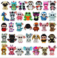 Wholesale Video Games Simulation - TY beanie boos Plush Toys simulation animal TY Stuffed Animals super soft 6inch 15cm children gifts L001