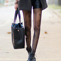 Wholesale Spot Tights - Wholesale- 2015 New Women Sexy Fishnet Special Floral Spot Deisgn Brand Stockings Net Pantyhose Ladies Mesh Tights For Female Wear