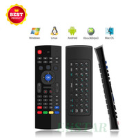 MX3 Fly Mouse Multifunzione 2.4G Mini tastiera senza fili per Android Smart TV Box IR Learning 6 assi Telecomando a infrarossi per IPTV HTPC