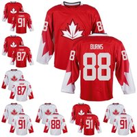 Wholesale Premier Men - 87 Sidney Crosby 88 Brent Burns 91 Steven Stamkos 91 Tyler Seguin Team Canada 2016 World Cup Of Hockey Premier Home Jersey