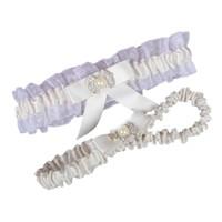 Wholesale Women Sheer Legging - Free Shipping White Ivory Wedding Leg Garters Elastic Lace Sexy Feminine Crystals Bow Women Lady Sheer Vintage Bridal Accessories