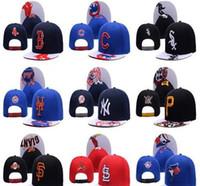 Wholesale Cap Pirates - White Sox Snapback Baseball Caps Pirates Cardinals Hats Adjustable Yankees Men Hats Fashion Sun Blue Jays Women Snap Back Hats
