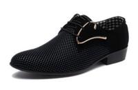 chaussures habillées en cuir oxford pour hommes achat en gros de-Derbies de luxe pour hommes Oxfords plats pour hommes Casual Slip-On Dress Chaussures de mariage en cuir Chaussures Chaussures de travail pour hommes Plus Size 46