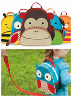 Wholesale Toddler Backpack Harness Leash - Cute Cartoon Toddler Baby Harness Backpack Leash Safety Anti-lost Backpack Strap Kindergarden Walker Backpack with children leash