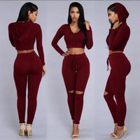 Wholesale Summer Tracksuit Women - Summer Leisure Time Even Hat Jacket Trousers Ma'am Holes Twinset Section Pants sportwear woman tracksuit hoodies tops lacing Short