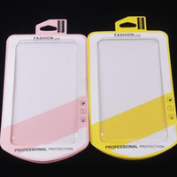 Wholesale Empty Cases - Fashion Phone case empty Retail package boxes box Transparent Blister Yellow Pink paper card for iphone 6 6S Plus Samsung S6 S7 Edge OEM