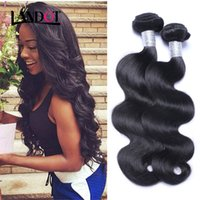 Wholesale Cheap Black Hair Pieces - Peruvian Malaysian Indian Cambodian Brazilian Virgin Hair Body Wave Wavy Cheap Human Hair Weave Bundles Natural Black Remy Hair Extensions