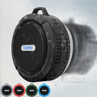 Wholesale Mini Speakers Long - Waterproof Bluetooth Speaker C6 with Strong Driver Long Battery Life and Mic and Removable Suction Cup in Retail Package