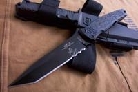 tang klinge großhandel-FREIES VERSCHIFFEN 10 '' New Colt M4-K Defensive Feststehende Klinge Full Tang Jagdscheide Messer H6