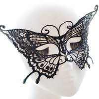 Wholesale Butterfly Night Club Ball Eye Masks Lace Masks Venetian Half Face Mask Christmas Cosplay Party Halloween Sexy Masquerade Masks