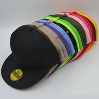 High Quality Hot Selling Plain Blank Snapback chapéus preto Snap Back Caps Hat Mix order CC505
