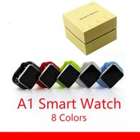 Wholesale A1 smart watch phone Colors Hot Sell Smartwatch Bluetooth Top Quality Wearable Smart Watches with Camera for Smart phone